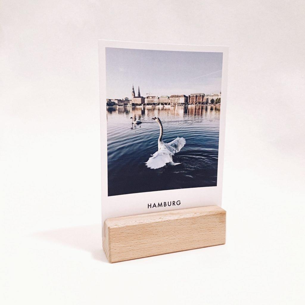 Holzblock & 12 Postkarten - 16,50 €