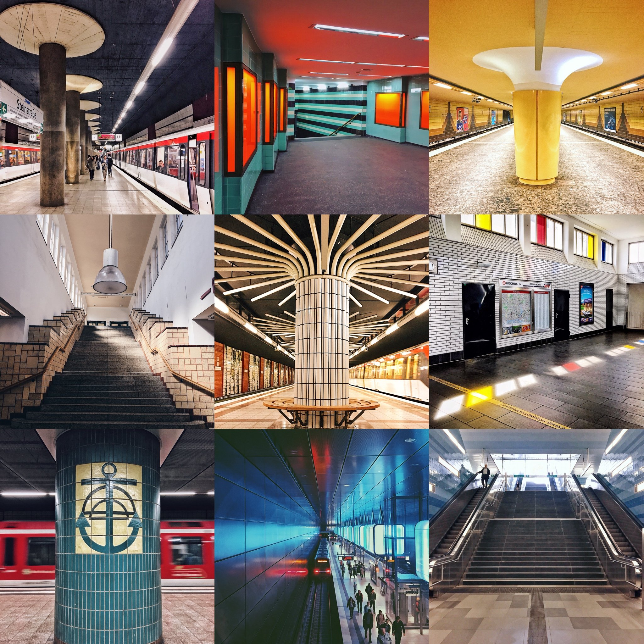 Beautiful Subway Stations In Hamburg: Design From The Underworld