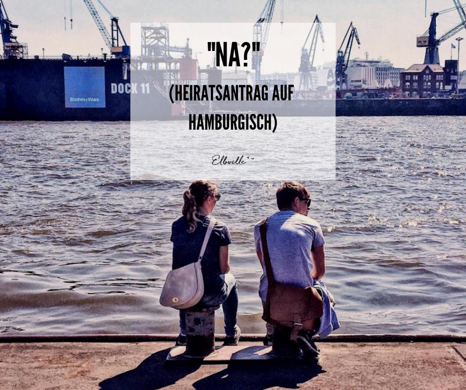 Heiratsantrag am Hafen Hamburg Elbville Companion