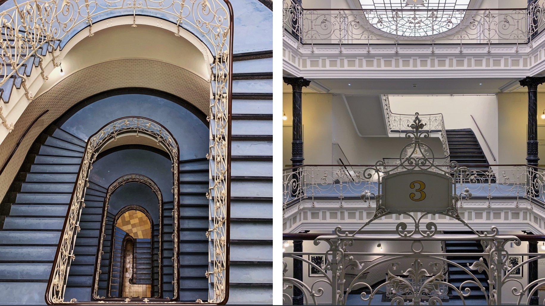 Laeisz Hof ein Treppenhaus in Hamburg Kontorhaus